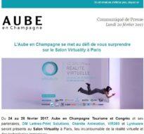 Communiqué de presse – Février 2017 – Salon Virtuality à Paris