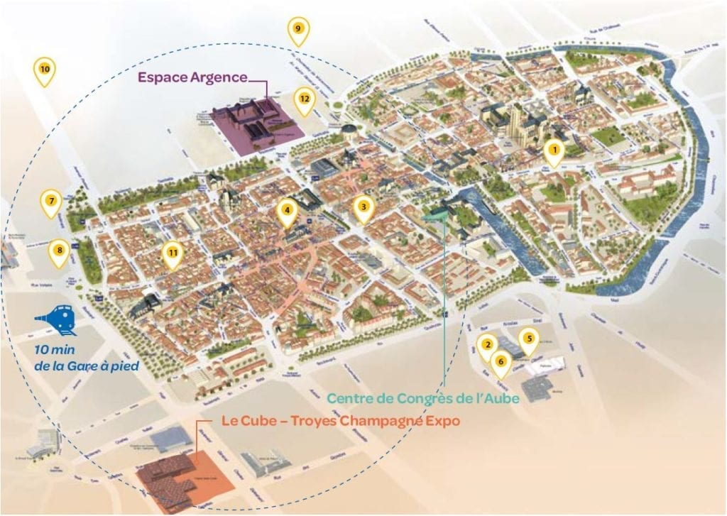 Plan des Hôtels de Troyes